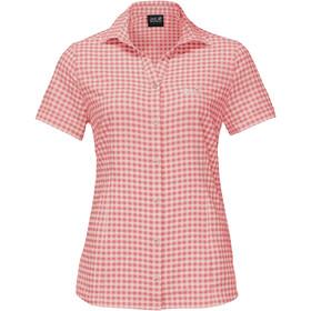 Jack Wolfskin Kepler Shirt Korte Mouwen Dames, blush pink checks